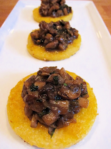 Polenta Squares with Mushcroom Ragu